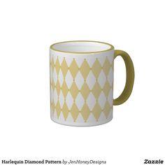 Harlequin Diamond Pattern Coffee Mug