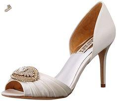Badgley Mischka Women's Melody D'Orsay Pump, White, 10 M US - Badgley mischka pumps for women (*Amazon Partner-Link)