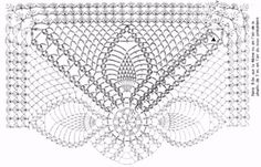 Crochet Pattern of Square Doily