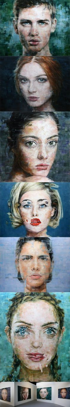 Brazilian-born artist Harding Meyer lives and works in Berlin and Karlsruhe where he paints these stunning, large-scale oil portraits.