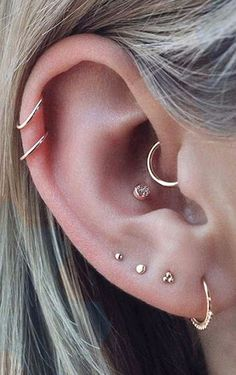 Awesome beautiful loveable minimalist ear piercing concepts cartilage daith m … – Piercing