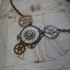 Clockwork Universe Steampunk Necklace