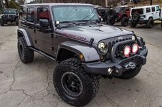 "6.4L HEMI Conversion AEV 4.5"" DualSport SC Suspension Alpine Restyle Kit For Wrangler JK Fuel Trophy D551 18"" x 9"" Wheels 37x12.50x18 Toyo Open Country RT Mud Terrain Tires AEV Front and Rear Bumpers"