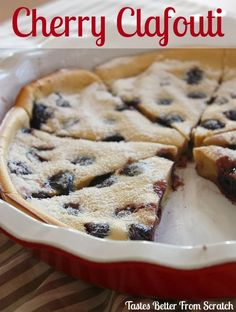 Cherry Clafouti - one of my favorite French brunch dishes: on MyRecipeMagic.com