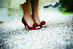 red wedding shoes. perfect
