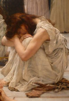 Sir Lawrence Alma Tadema - The Women of Amphissa (detail)