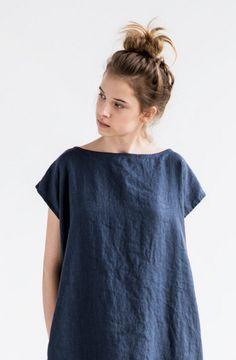 Charcoal Linen Dress   Etsy