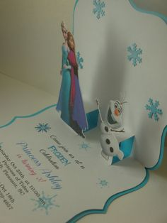 Frozen Pop-up Birthday invitation set of 8 birthday by HappyToons