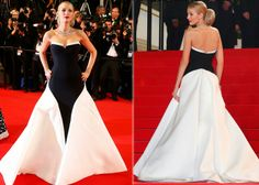 Blake+Lively+who+has+hands+down+been+the+best-dressed+actress+at+Cannes+this+year+was+absolutely+royal+in+a+monochrome+Gucci+strapless+gown+...
