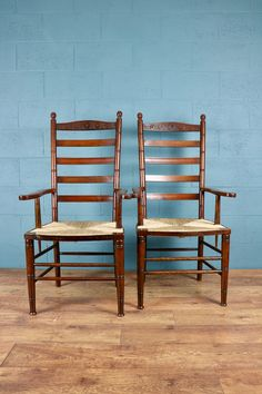 Arts and Crafts Ladder Back Armchairs http://www.walcotandco.co.uk/seating/pair-of-ladderback-armchairs