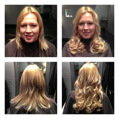 "Hotheads hair extensions on Kristi! Length 14""-16"""