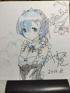 #Re:zero #Dessin sur #Shikishi par yasu00kamiki #Anime #Manga