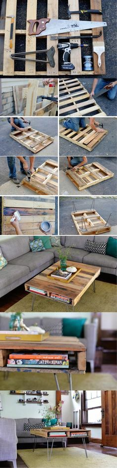 comment fabriquer une table basse en palettes