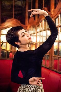 AN AMERICAN IN PARIS star Leanne Cope I just think she is gorgeous and I love her haircut