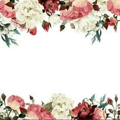 Pin by thea magalong on prints & patterns in 2019 Flower Backgrounds, Flower Wallpaper, Wallpaper Backgrounds, Wedding Cards, Wedding Invitations, Invitation Background, Borders And Frames, Floral Border, Arte Floral