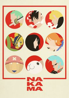 One Piece Minimalist Poster: Nakama. by MinimallyOnePiece.deviantart.com on @deviantART