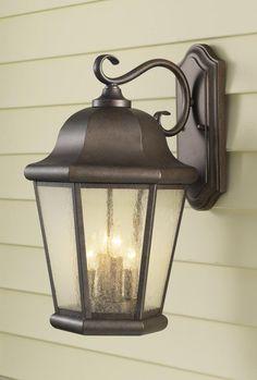 Four Light Corinthian Bronze Clear Seeded Glass Wall Lantern : OL5904CB   Timberlake Lighting