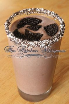 The Kitchen Whisperer Protein Packed Chocolate Cake Batter Double Stuffed Cookies Shake