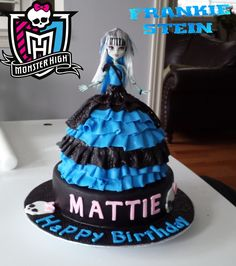 Frankie Stein Monster High Doll Birthday Cake 2014