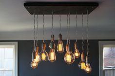 Handmade 11 Pendant Edison Bulb Chandelier
