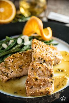 Orange-Rosemary Seared Salmon - Pan-seared salmon fillets in a delicious citrus sauce and it's all ready in just a few minutes. #Paleo