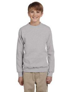 Hanes Youth 7.8 oz. ComfortBlend 50/50 Fleece Crew - Light Steel - M Hanes http://www.amazon.com/dp/B0009G3VX8/ref=cm_sw_r_pi_dp_TC.Fub0TV6RA2