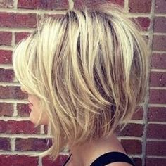 26 Best Women Hairstyle With Short Stacked Bob - Page 16 of 26 26 Meilleures coiffures pour femmes a Medium Hair Styles, Curly Hair Styles, Women Hair Styles, Growing Out Short Hair Styles, Short Stacked Bobs, Long Bobs, Choppy Bob Hairstyles, Teenage Hairstyles, Hairstyle Short