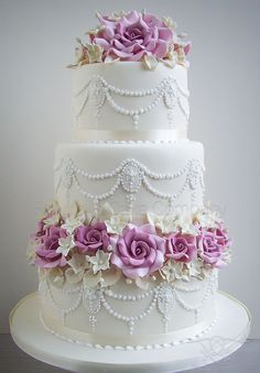 Indian Weddings Inspirations. Purple Wedding Cake. Repinned by…