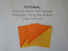 Tutorial: How to make HSTs using the Drawn Line Method - Quiltineering