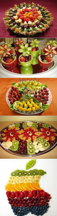 Красивое оформление фруктовых нарезок – это просто! / Простые рецепты
