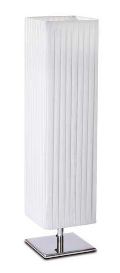 "23"" White Fabric Table Lamp from UMA Enterprises"