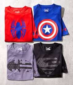 Show off your alter ego in superhero shirts from Under Armour