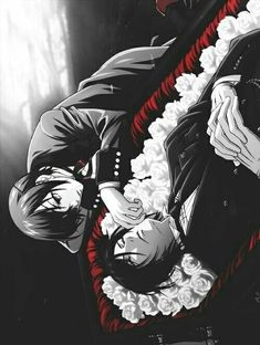 Sebastian Michaelis and Ciel Phantomhive, Black Butler Ciel Phantomhive, Manga Anime, Anime Guys, Anime Art, Anime Kuroshitsuji, Black Butler Kuroshitsuji, Undertaker, Black Butler Sebastian, Black Butler Ciel