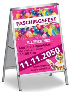 DIN A0, DIN A1, DIN A2 und DIN A3 Plakate und Poster selbst gestalten #poster #faschingposter #faschingplakat #plakat #karnevalfest