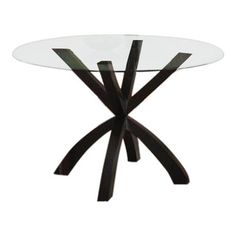Monarch Specialties - Monarch Specialties Round Spider Base Dining Table in Dark Espresso - Dining Tables Glass Round Dining Table, Dining Tables, Round Glass, Espresso, Spider, Base, Kitchen, Top, Furniture