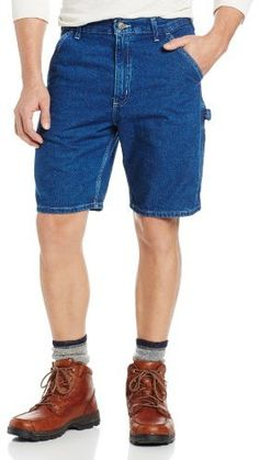 $24, Lightweight Denim Utility Work Short by Carhartt. Sold by Amazon.com. Click for more info: http://lookastic.com/men/shop_items/14729/redirect
