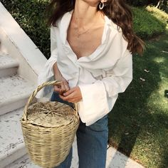 Basket Bag | Pinterest: heymercedes