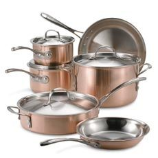 Calphalon Tri-Ply Copper 10-Piece Cookware Set - Bed Bath & Beyond....my dream set...someday...