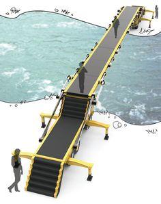 Vehicle-Launched Bridge Launches Temporary Bridge