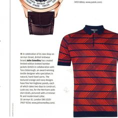 Tom Stubbs for the Financial Times: John Smedley Hermann polo shirt