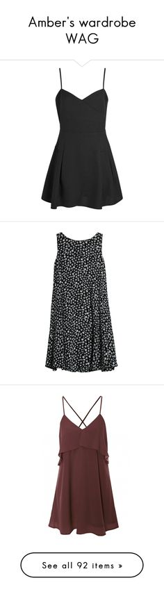 """""""Amber's wardrobe WAG"""" by starlightschool ❤ liked on Polyvore featuring WAGRP, dresses, vestidos, short dresses, sweetheart mini dress, sweetheart neckline dress, sweetheart skater dress, wrap around dress, fit and flare skater dress and tops"""