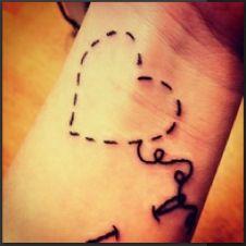 stitch tattoo, this is cute :)