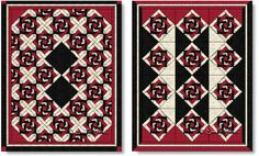 Two quilts made with the Slip Knot quilt block - image © Wendy Russell