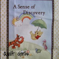 A Sense of Discovery Pooh Fabric Book Panel to Sew