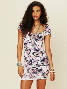 Free People Cage Back Bodycon Slip, 68.00