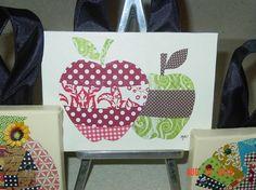 Teacher Canvas Collage Teacher Canvas, Canvas Collage, Painted Canvas, Canvas Ideas, Teacher Gifts, Collages, Arts And Crafts, Craft Ideas, Crafty