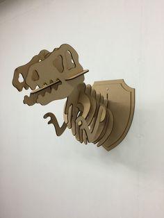 L/S en bois Animal de T-Rex trophée tête 3D - monde Jurassique dinosaure bricolage peinture Decor