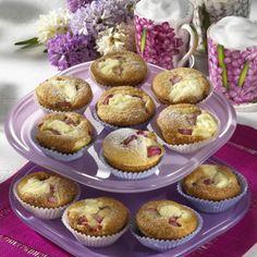Rhabarber-Käsekuchen-Muffins Rezept | LECKER