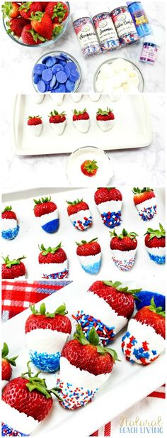 How to Make The Best Chocolate Covered Strawberries Recipe, Perfect 4th of July & Memorial Day Food, #Patriotic Strawberries #recipes #4thofjuly #food Coconut Hot Chocolate, Best Chocolate, How To Make Chocolate, Homemade Chocolate, Chocolate Recipes, Chocolate Cookies, White Chocolate, Dessert Banana Split, Memorial Day Foods