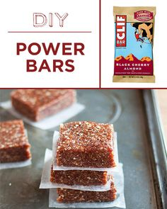 Nuts + dried fruit + dates = easy homemade power bars.